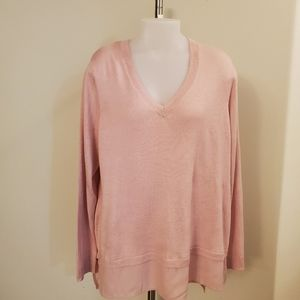 Pretty Pink Joe Sweater w Shirt Tail XL